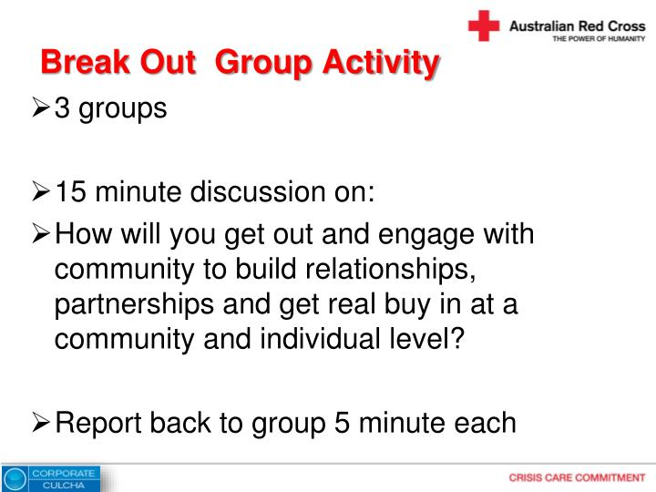 Break Out  Group Activity