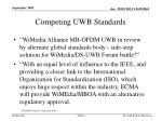 competing uwb standards