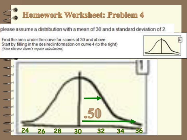 Homework Worksheet: Problem 4