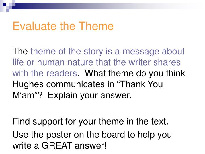 Evaluate the Theme