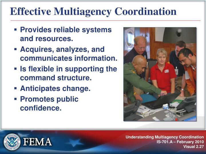 Effective Multiagency Coordination
