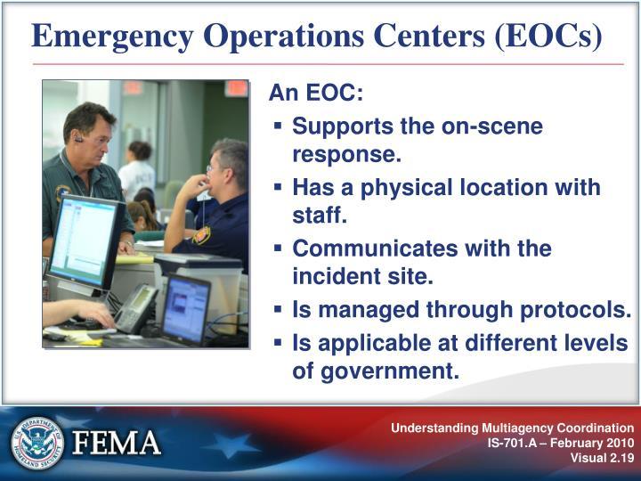 Emergency Operations Centers (EOCs)