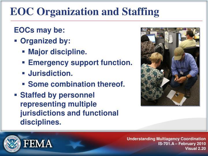EOC Organization and Staffing