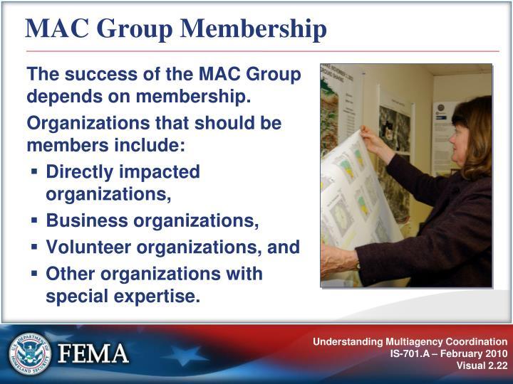 MAC Group Membership