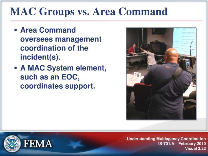 MAC Groups vs. Area Command