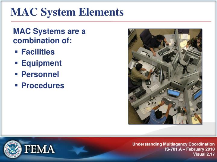 MAC System Elements