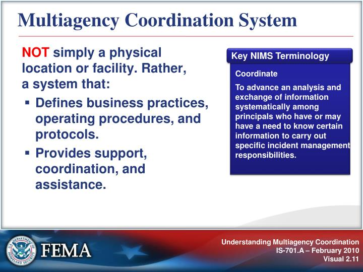 Multiagency Coordination System