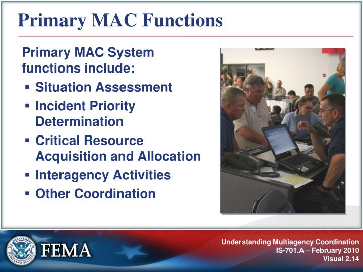 Primary MAC Functions