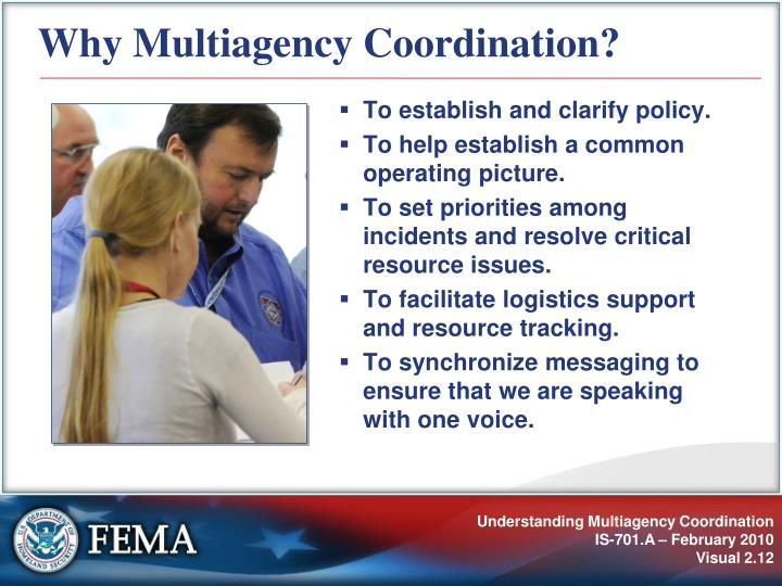 Why Multiagency Coordination?
