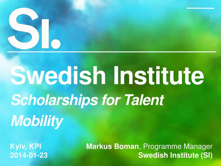 swedish institute scholarships for talent mobility n.