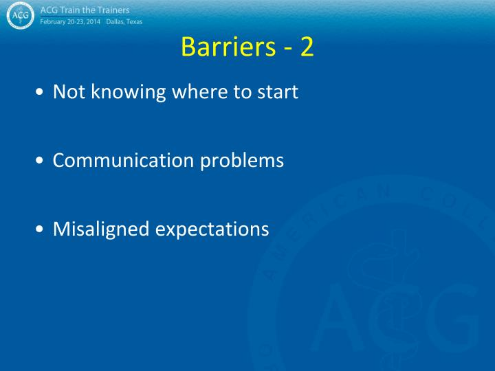 Barriers - 2