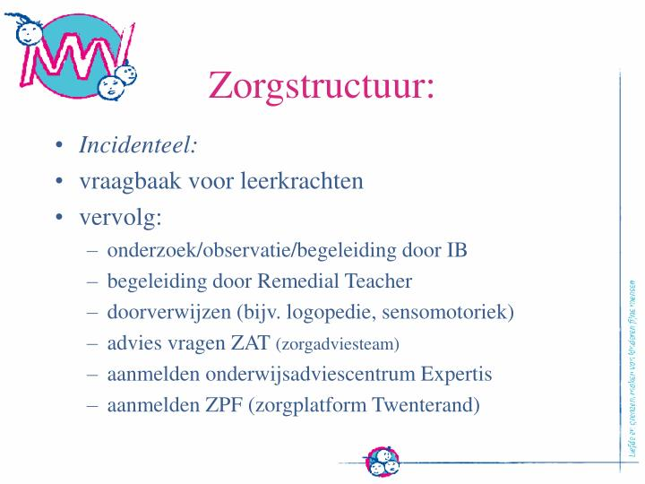 Zorgstructuur: