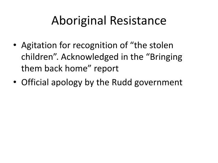 Aboriginal Resistance