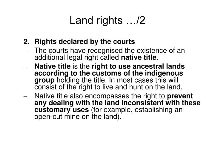 Land rights …/2