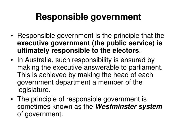 Responsible government