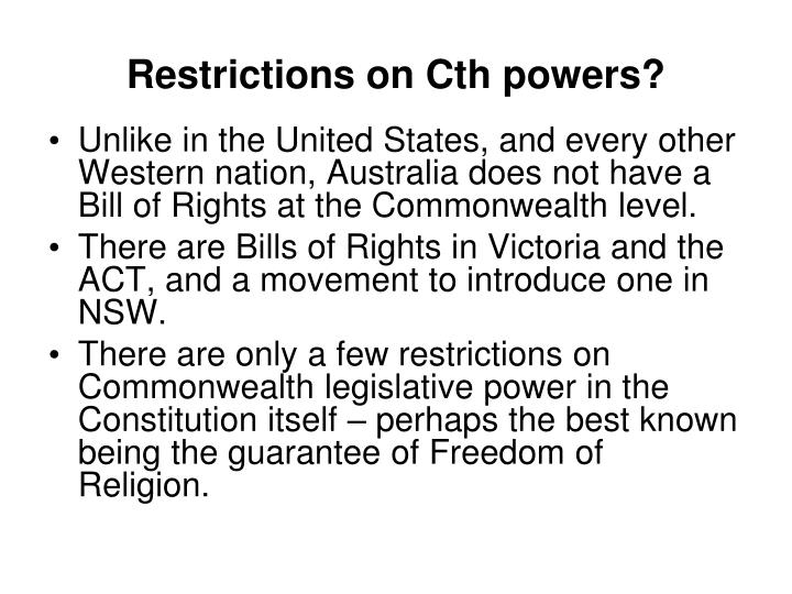Restrictions on Cth powers?