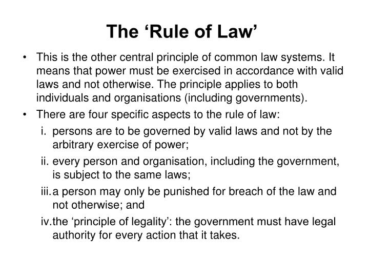 The 'Rule of Law'