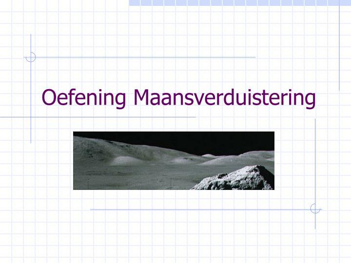 Oefening Maansverduistering