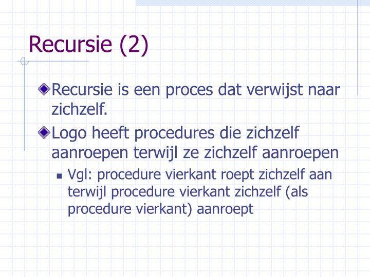 Recursie 2