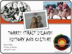 torres strait islands history and culture