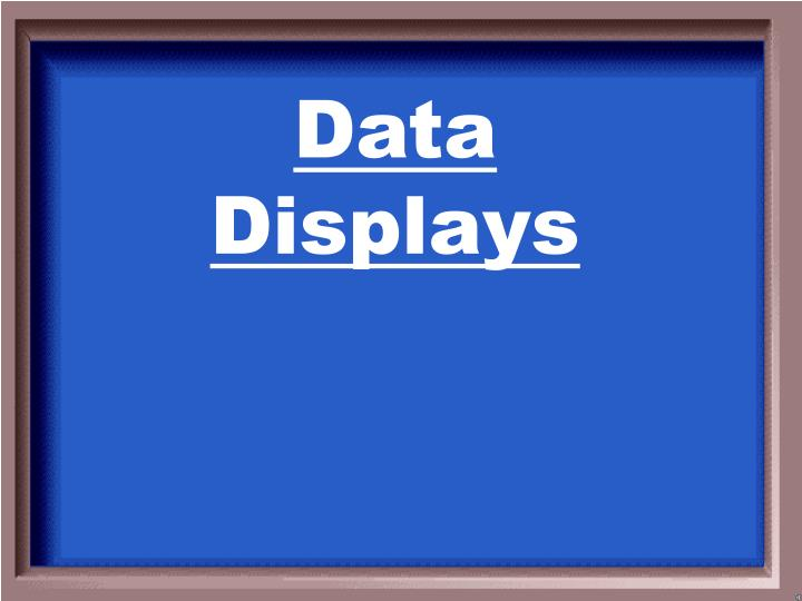 Data Displays