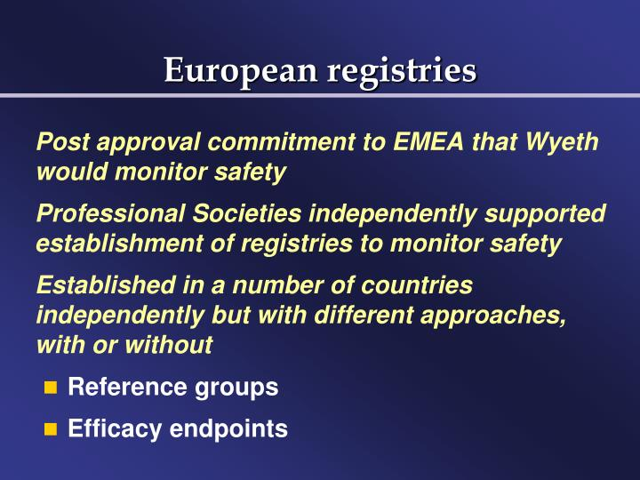 European registries