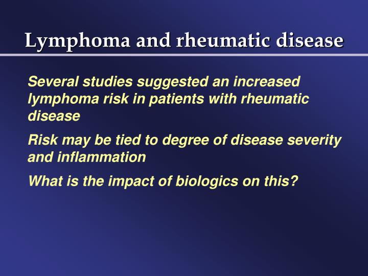 Lymphoma and rheumatic disease