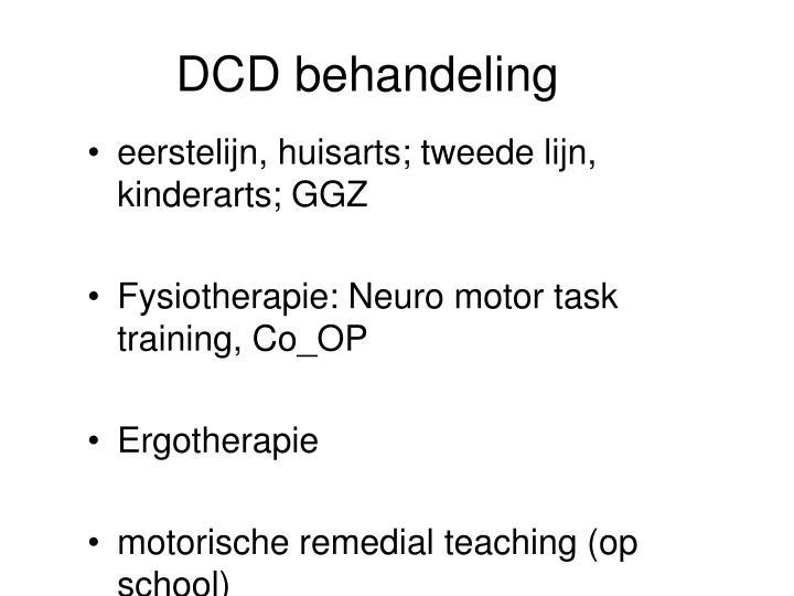 DCD behandeling