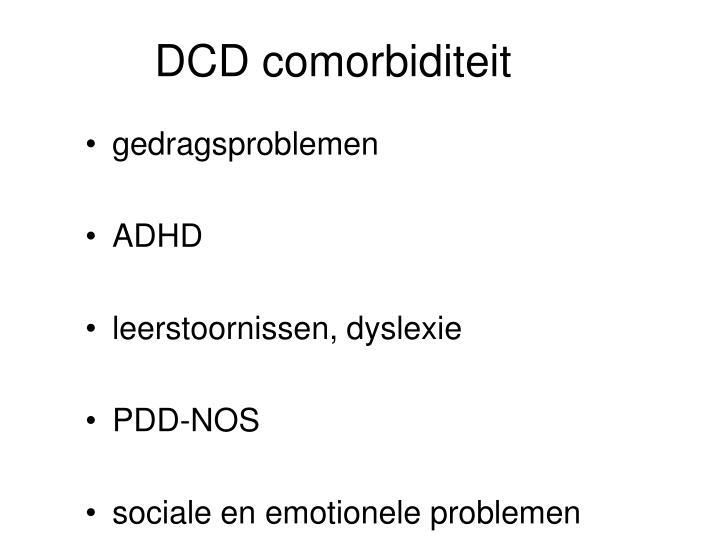 DCD comorbiditeit