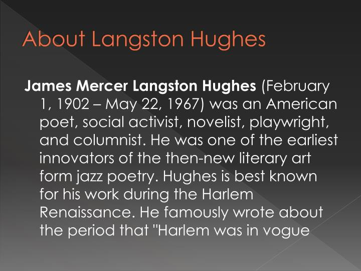 About Langston Hughes
