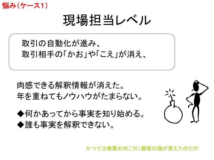 悩み(ケース1)