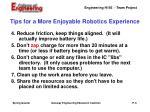 tips for a more enjoyable robotics experience1