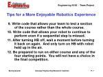 tips for a more enjoyable robotics experience2