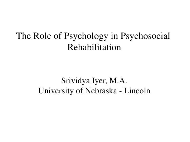 role of psychology The role of research and statistics in the field of psychology abstract research and statistics are essential elements within the field of psychology through the evolution of technology, the task of conducting adequate research and statistics methods have become abundant in methodology.