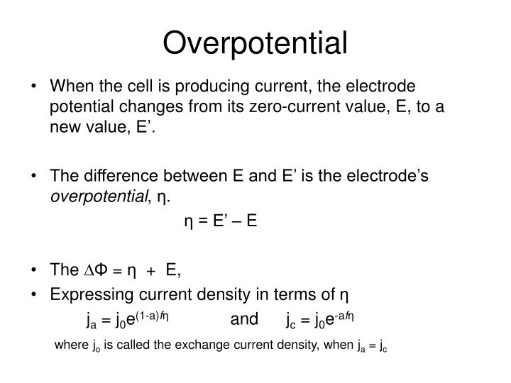 overpotential n.