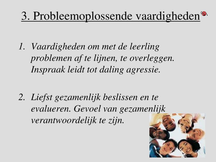 3. Probleemoplossende vaardigheden