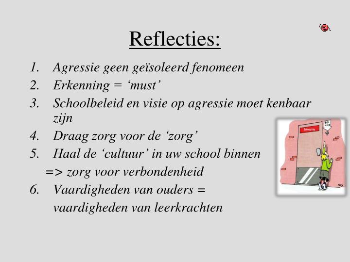 Reflecties:
