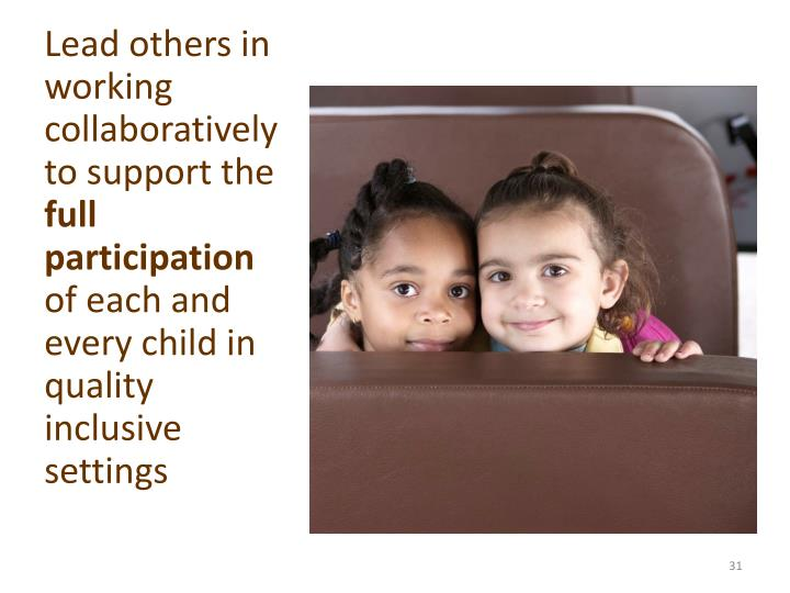 Lead others in working collaboratively