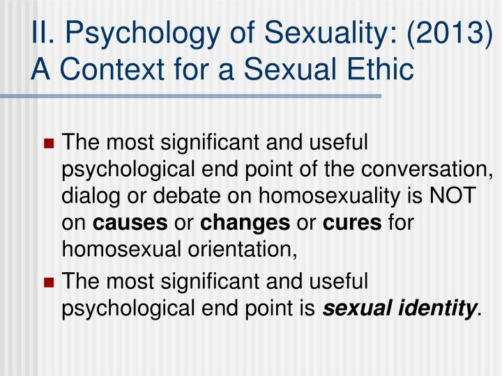 II. Psychology of Sexuality