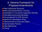 a general framework for proposed amendments