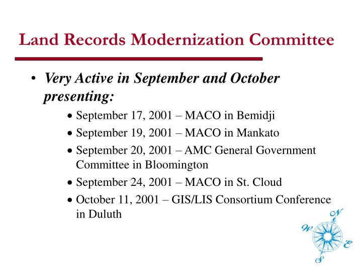 Land Records Modernization Committee