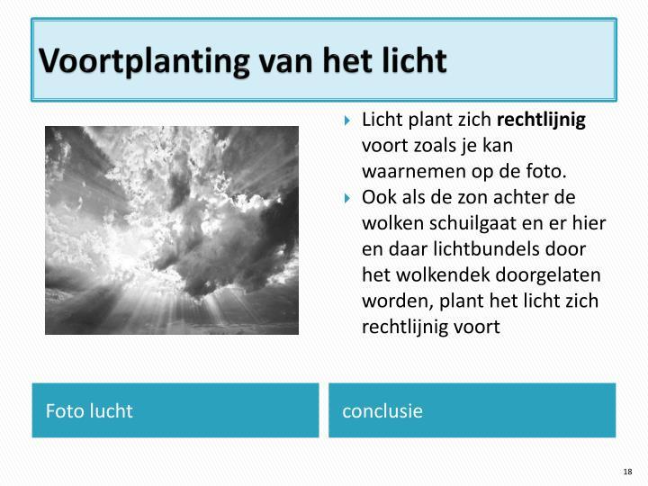 Voortplanting van het licht