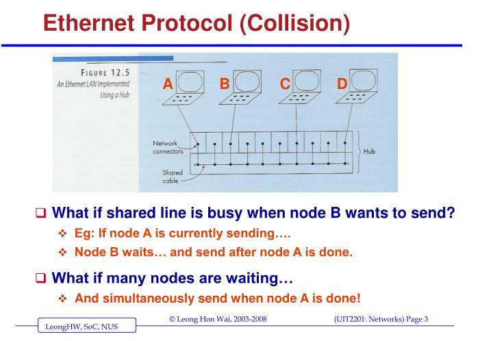 Ethernet protocol collision