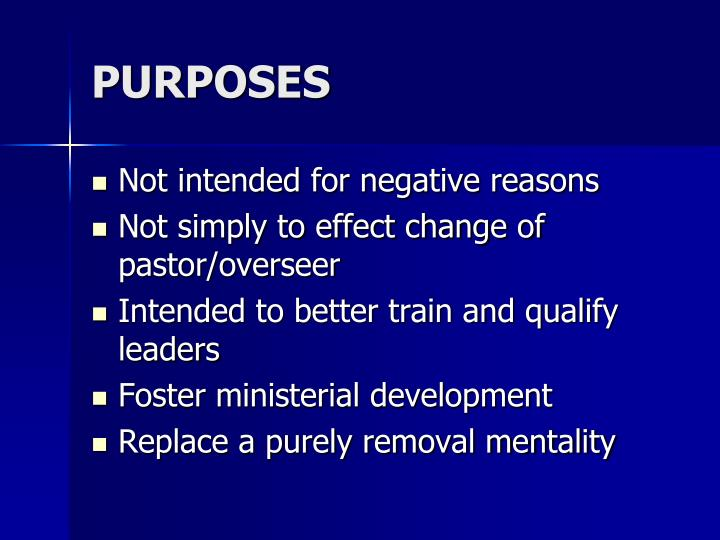 Purposes