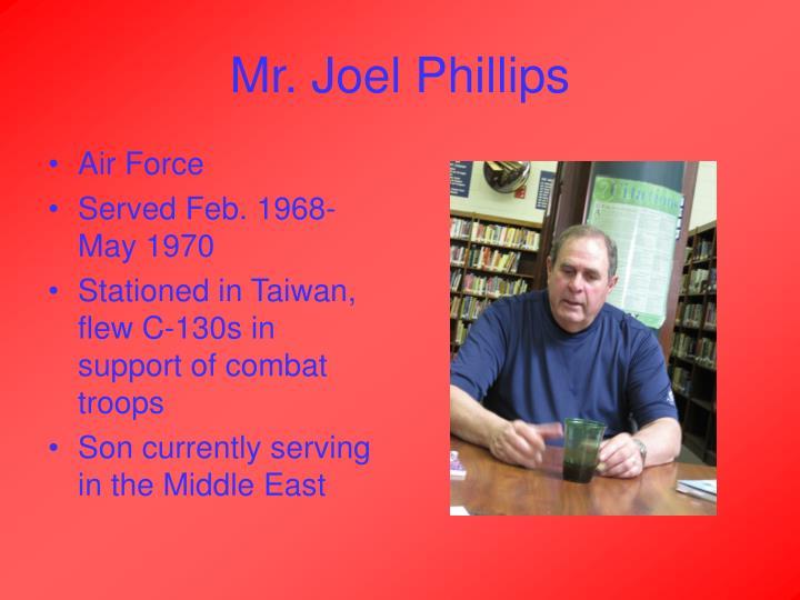 Mr joel phillips