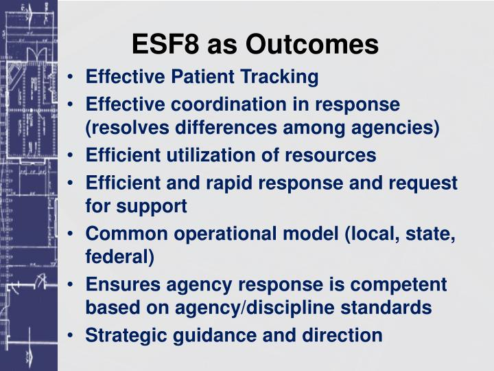 ESF8 as Outcomes
