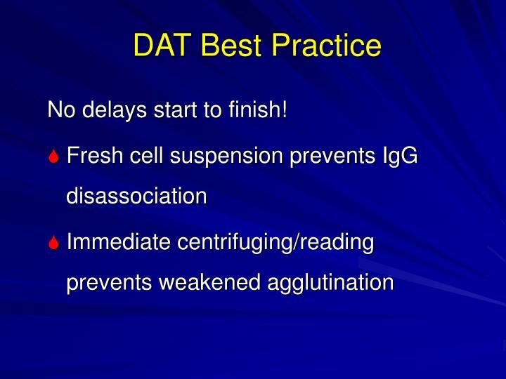 DAT Best Practice