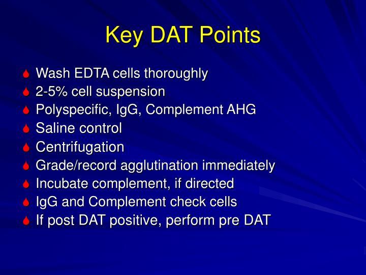 Key DAT Points