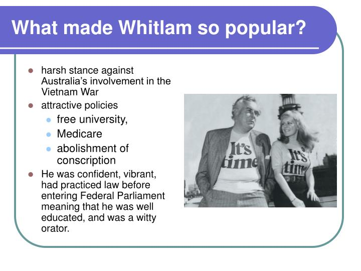 What made Whitlam so popular?