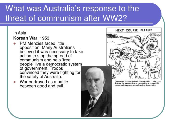 What was australia s response to the threat of communism after ww21